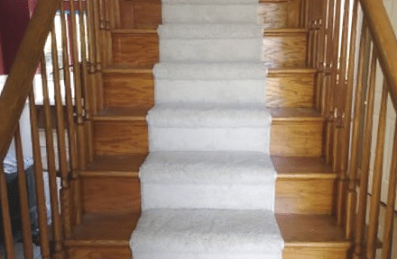 flooring for stairs, carpet runner and hardwood