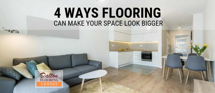 new floors in this small room make the space seem bigger.